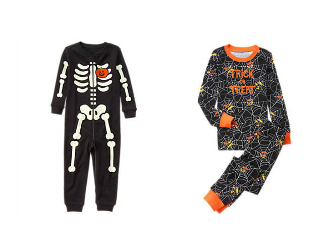 Spiders, black cats and ghosts haunt these fun Halloween pajamas. Add your name, too — the kids will love that. Make this super-soft sleepwear part of your family's traditions.