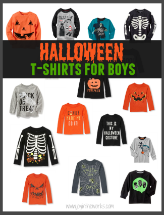The best Halloween Shirts for Boys from Gymboree, Old Navy, Crazy 8, The Children's Place, Carters and More