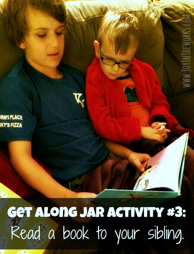 Get Along Jar Activity #3: Read a book to your sibling
