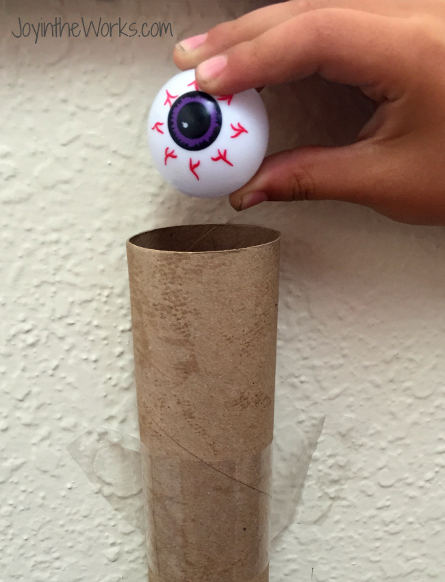 Use a vareity of cardboard tubes and containers and let the kids create a maze for the eyeballs! A creative Halloween game that will provide hours of fun!