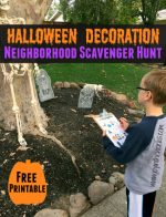 Halloween Decoration Neighborhood Scavenger Hunt