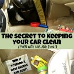 Struggle with a messy car? I discovered a secret that has completely changed things- and my kids still eat in the car! Plus you can see some of the best messy mom cars around AND win money toward a new Britax car seat! #AD #Giveaway