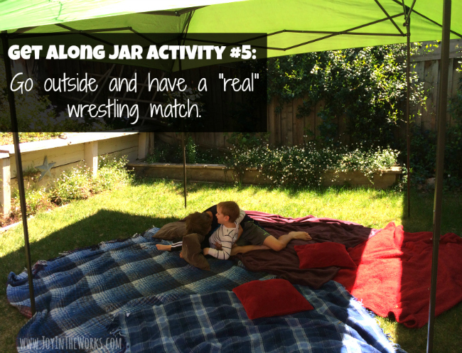 Build a wrestling arena outside, set some ground rules and let your kids really wrestle!