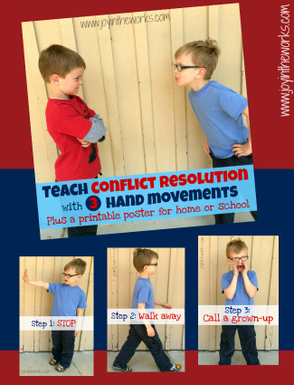 Teach Conflict Resolution with 3 Hand Movements