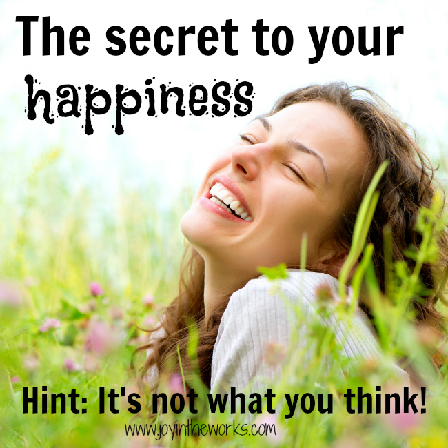 Everyone is always looking for the secret to happiness, you will be surprised to learn what it is!