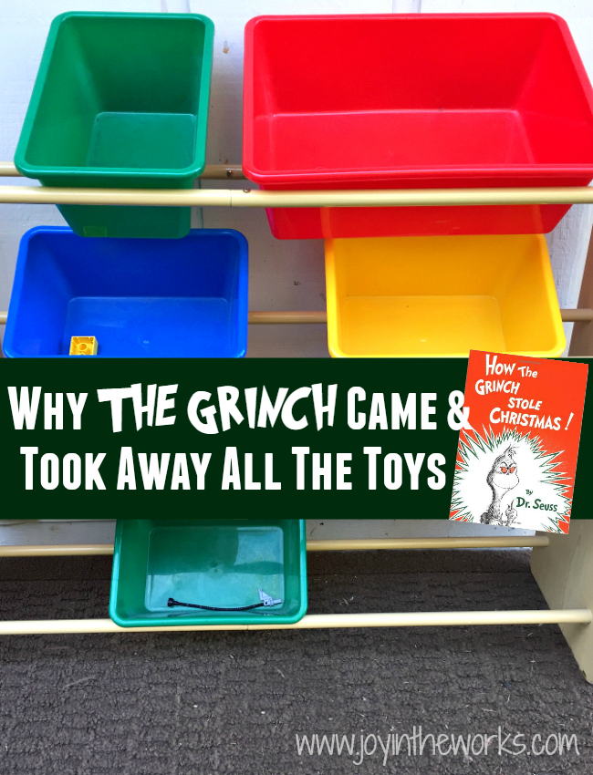 Find out why The Grinch came and took away all the toys right before Christmas! (And see if it actually helped!)