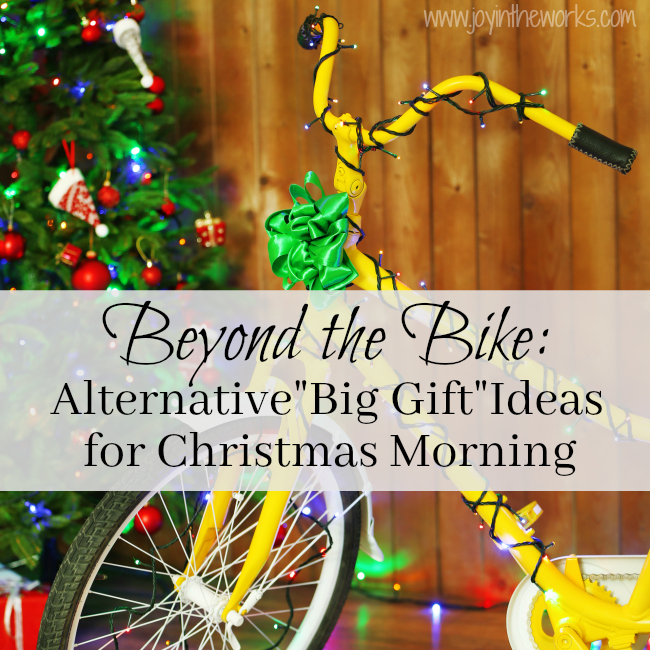 Beyond the bike: Alternative big gift ideas for Christmas mornings. What does Santa bring when the kids already have a bike? Check out these creative (and budget friendly) gift ideas that would are guaranteed to be on Santa's list for your kids! #giftsfromsanta #giftideasforkids #budgetfriendlygiftsforkids