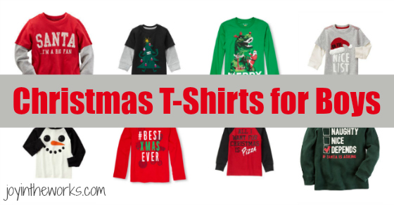 christmas t shirts for boys joy in the works - Christmas Shirts For Boys
