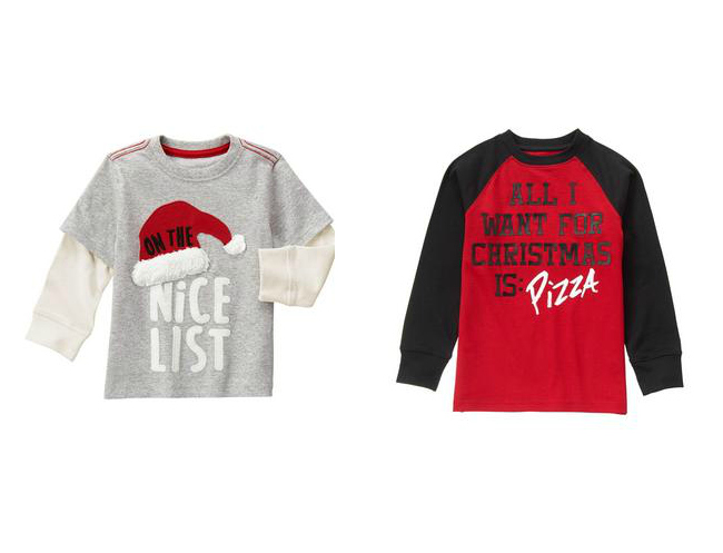 Check out the best Christmas t-shirts for boys from Gymboree, Carters, The Children's Place and more!