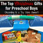 Christmas Gifts for Preschool Boys