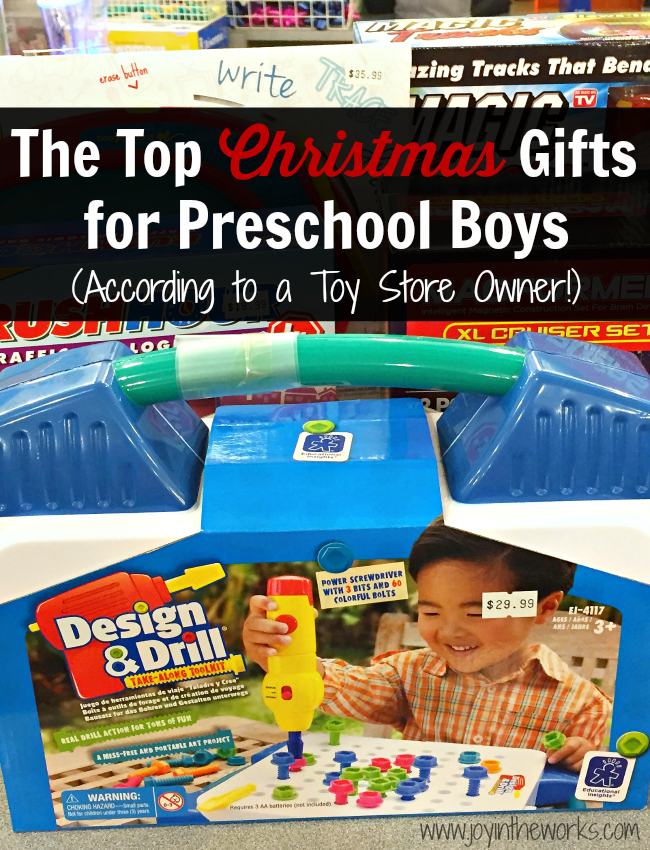 Christmas Gifts for Preschool Boys - Joy in the Works