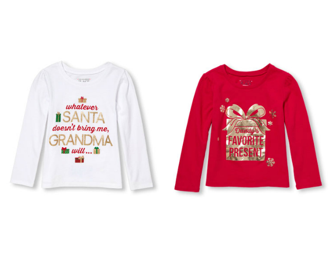 b873a91d Check out the cutest Christmas t-shirts for girls from Gymboree, Carters,  The