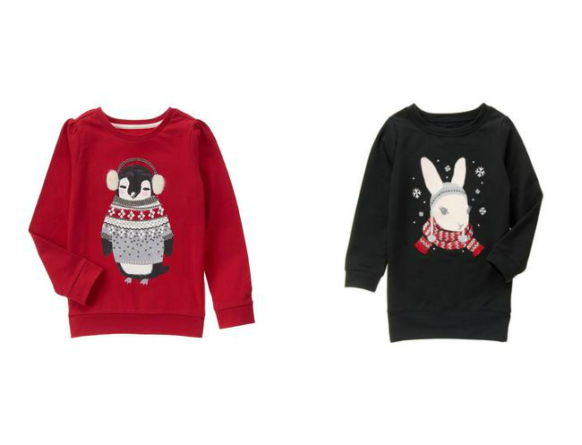 Check out the cutest Christmas t-shirts for girls from Gymboree, Carters, The Children's Place and more!