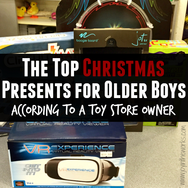 Looking for Christmas gift ideas for older boys? Check out these recommendations for the top Christmas gifts for older boys (as recommended by a Toy Store Owner!)