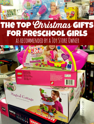 Looking for Christmas gift ideas for Preschool age girls? Check out these recommendations for the top Christmas Gifts for Preschool Girls (as recommended by a Toy Store Owner!)