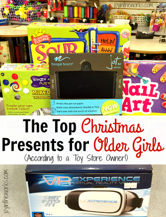Looking for Christmas gift ideas for older girls? Check out these recommendations for the top Christmas gifts for older girls (as recommended by a Toy Store Owner!)