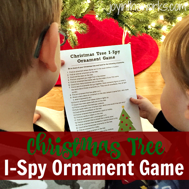 Christmas Tree I-Spy Ornament Game