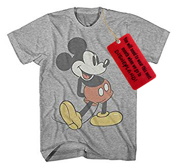 Creative Ways to Give Experiences to Kids: A Mickey Mouse T-Shirt for a trip to Disneyland