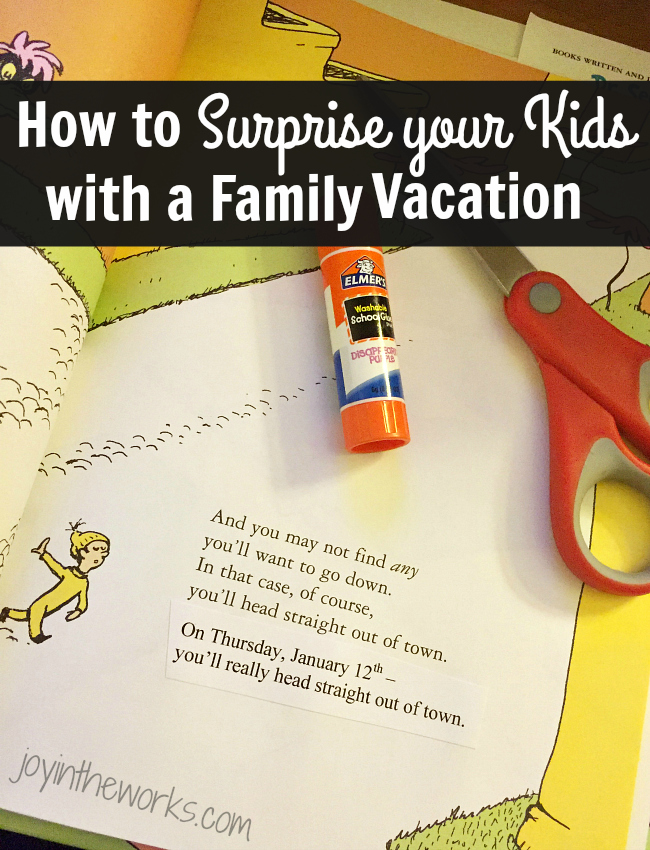 How To Surprise Your Kids With A Vacation