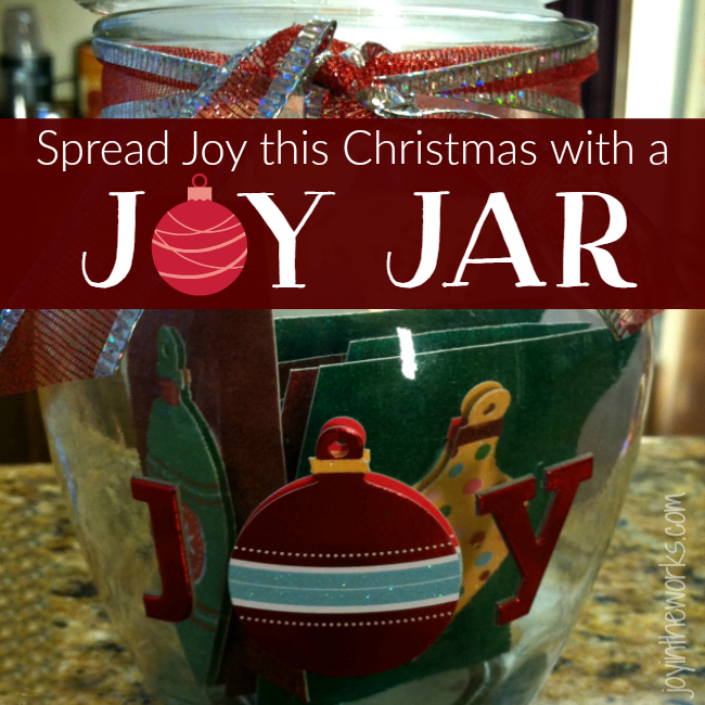 Give the gift of joy with a joy jar! A great class gift for the teacher or for kids to give grandparents or even parents!