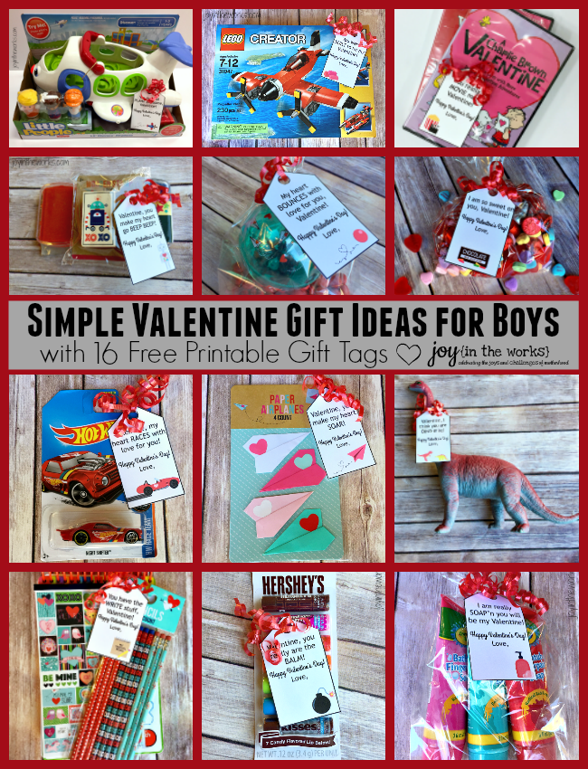 Simple Valentine Gift Ideas for Boys - Joy in the Works