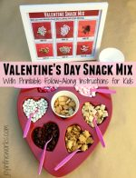 Kid's Build Your Own Valentine's Day Snack Mix
