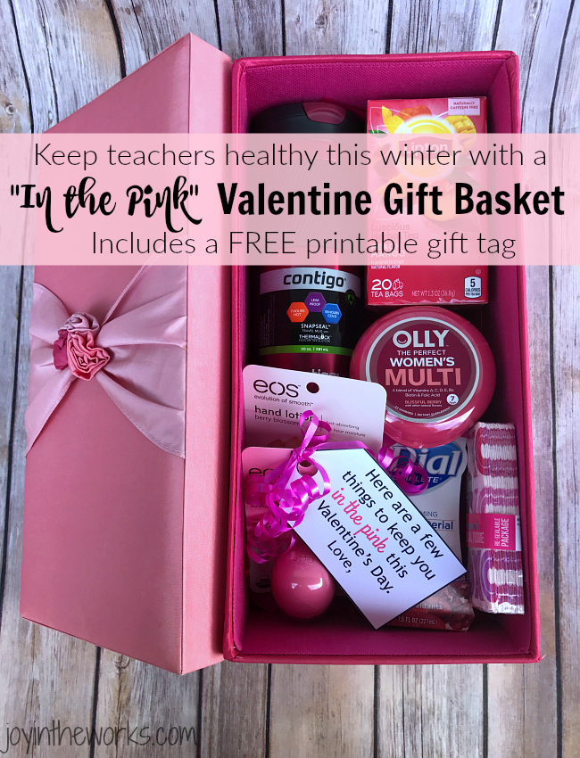In The Pink Valentine S Day Gift Basket Joy In The Works