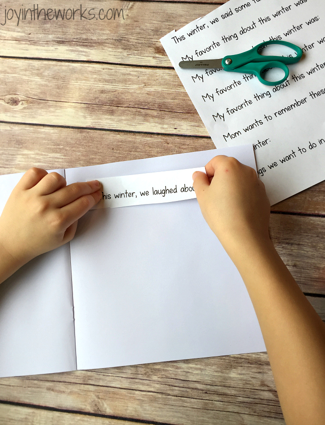 In this DIY Family Keepsake Journal for winter, the kids get to assemble and record the fun events of the season: from adventures to funny quotes and everything in between. Winter is the first seasonal journal, but free printable writing prompts are available for spring, summer and fall too!