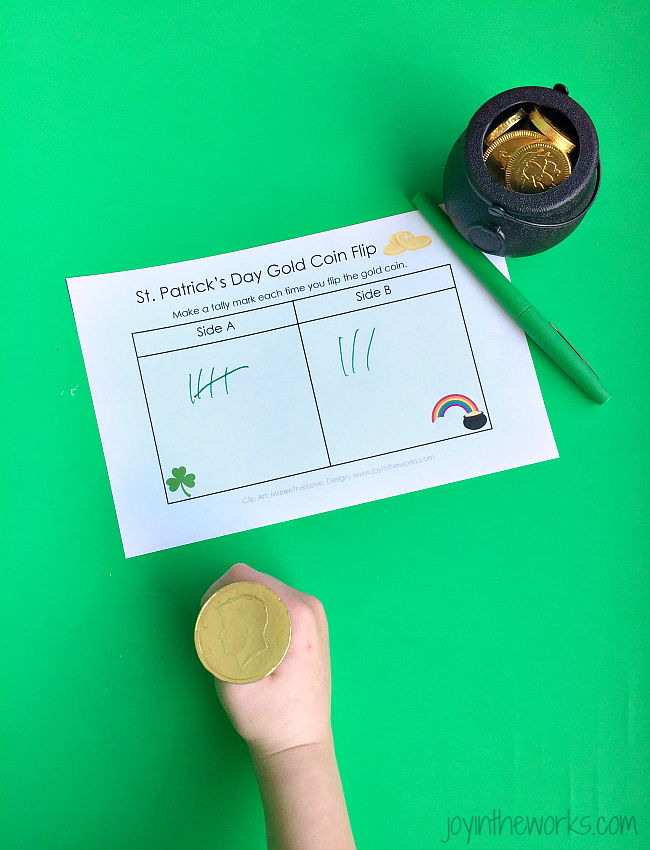 St. Patrick's Day Gold Coin Flip is the perfect probability game with a little chocolate treat afterwards!