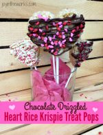 Heart Rice Krispie Treat Pops