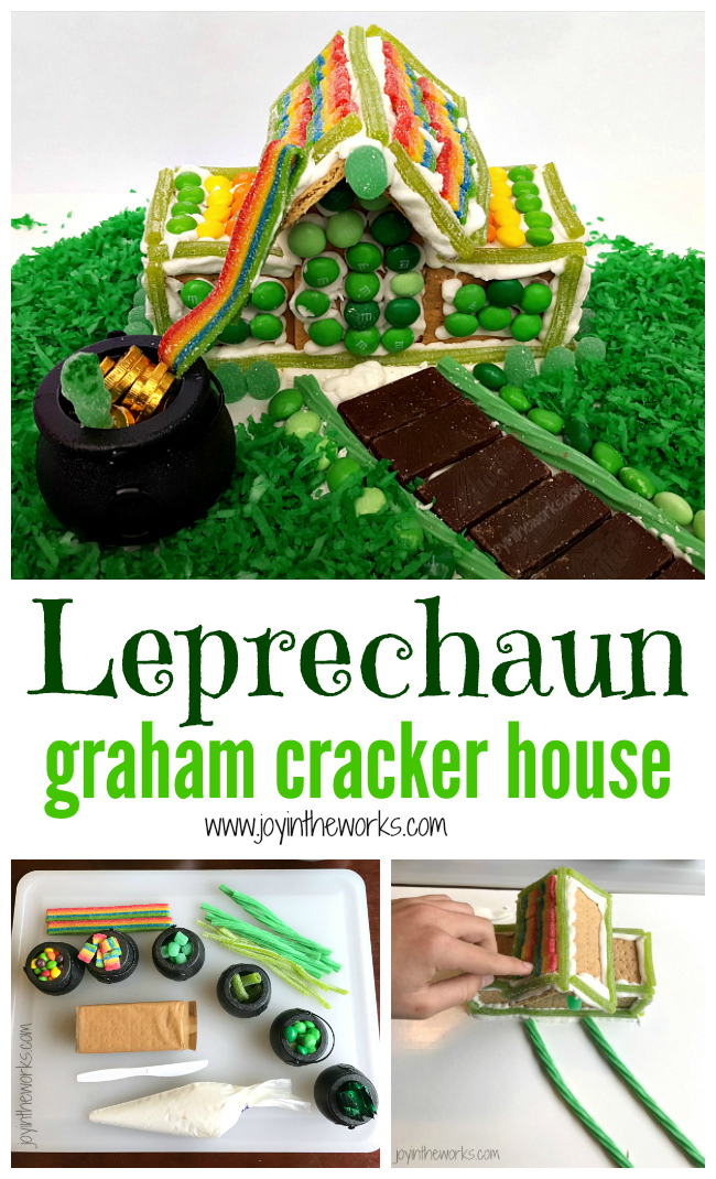 leprechaun graham cracker house joy in the works