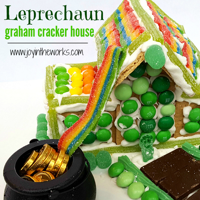 Gingerbread houses aren't just for Christmas anymore- kids love crafting with candy! For a fun St. Patrick's Day activity, forget making a Leprechaun trap! Instead have your kids make a Leprechaun graham cracker house with skittles, mint m&m's and other green and rainbow candy!
