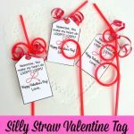 Free Printable Silly Straw Valentine Tag