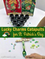 Lucky Charms Catapults for St. Patrick's Day