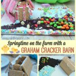 Looking for a fun spring activity with the family? How about making a candy graham cracker house like this Graham Cracker Barn on a springtime candy farm? Easy and more complicated options available #SpringItOn #NestleKitchen #CollectiveBias #ad