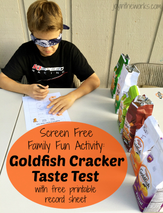 Goldfish Cracker Taste Test