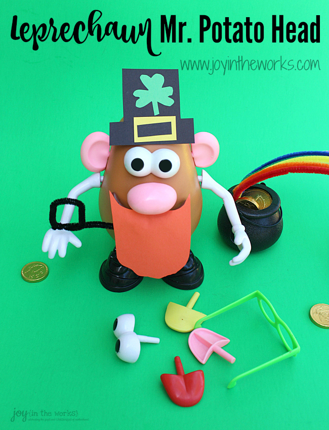 Check out this easy, fun St. Patrick's Day Activity- creating and playing with a Leprechaun Mr. Potato Head! Instructions and tips provided.