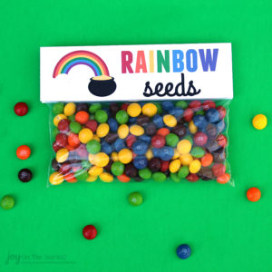 St. Patrick's Day Treat Bag Topper: Rainbow Seeds