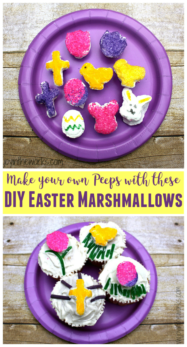 Make your own Peeps with these mini-marshmallow shapes! From chick marshmallows to Easter egg marshmallows, you can make any shape you want! And they make the perfect Easter cupcake topper too!