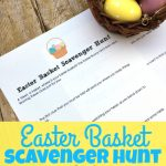 Free Printable Easter Basket Scavenger Hunt