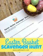 Free Printable Easter Basket Scavenger Hunt