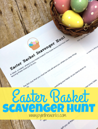 Looking to make Easter morning fun last a little longer? Download this free printable Easter Basket Scavenger Hunt where kids can follow clues until they discover their hidden Easter baskets!