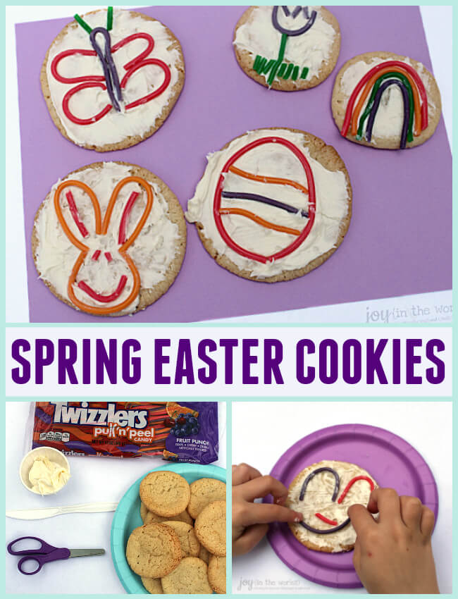 Spring easter cookies with twizzlers joy in the works looking for a fun easter treat or food craft to make with your kids or a solutioingenieria Image collections