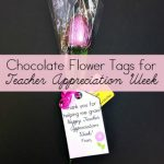 Chocolate Flower Gift Tags for Teacher Appreciation