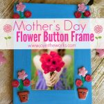 Mother's Day Flower Button Frame