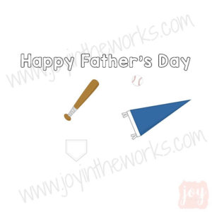 Baseball Themed Father's Day Story Card