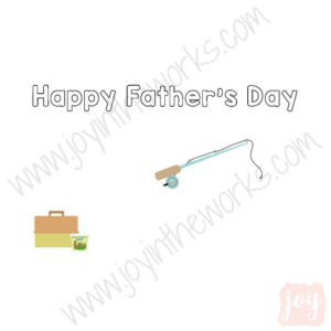 Fishing Themed Father's Day Story Card