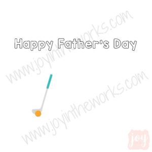 Golf Themed Father's Day Story Card