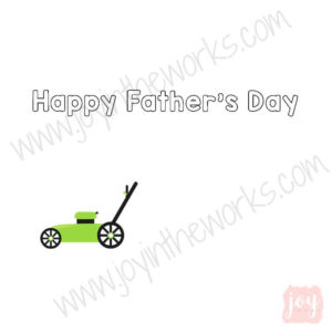 Lawnmower Themed Father's Day Story Card