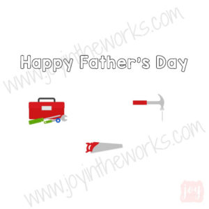 Tools Themed Father's Day Story Card